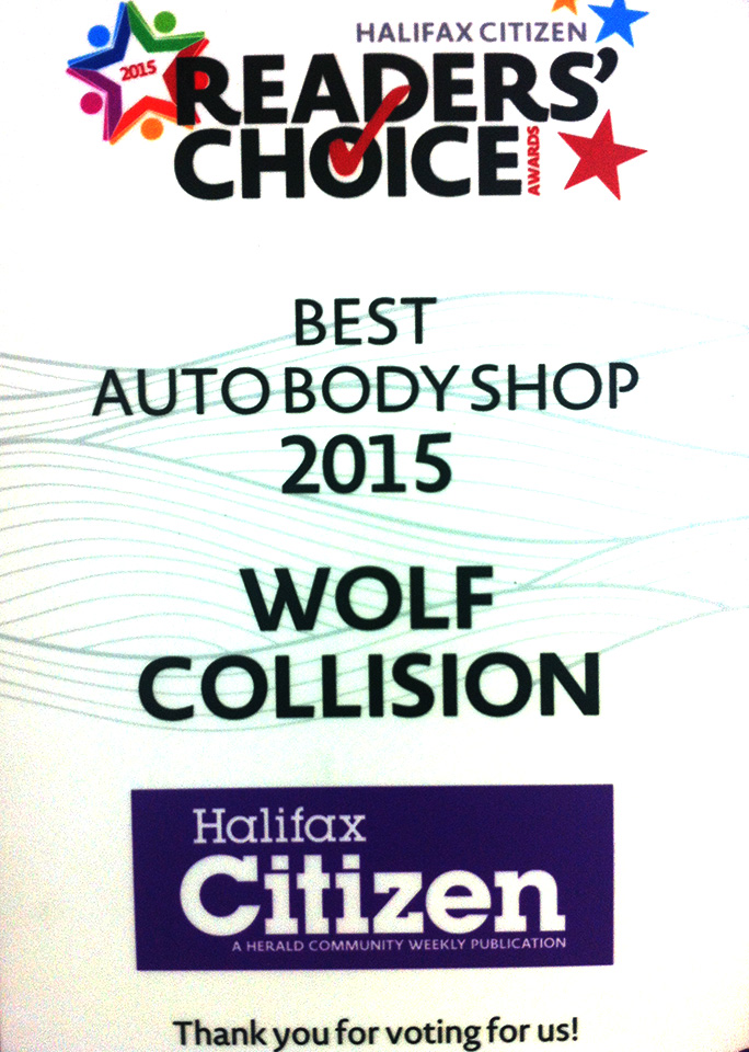Reader' Choice Best Auro Body Shop 2015 Wolf Collision - Halifax Citizen